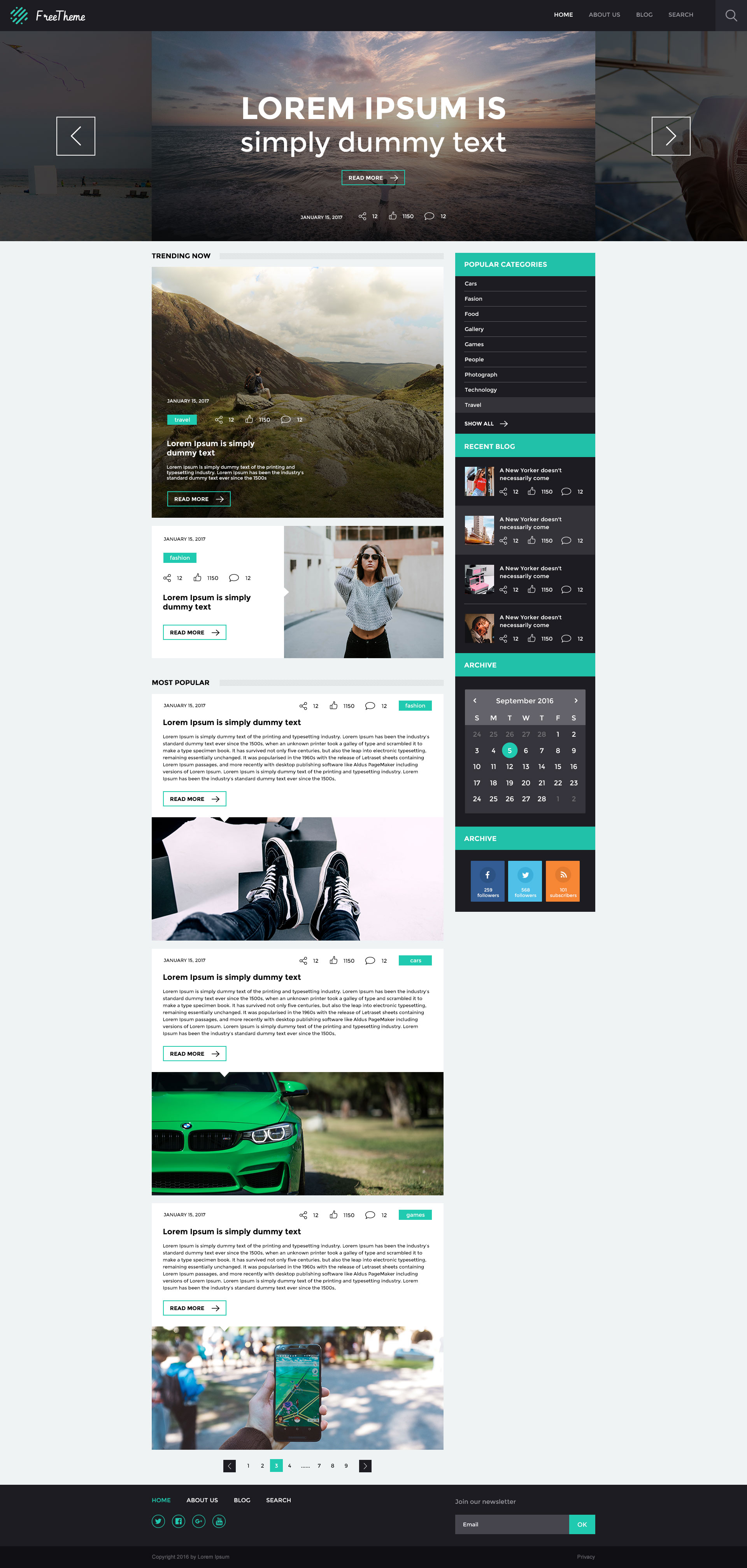 Open Source WordPress Theme